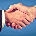A nice illustration of a handshake