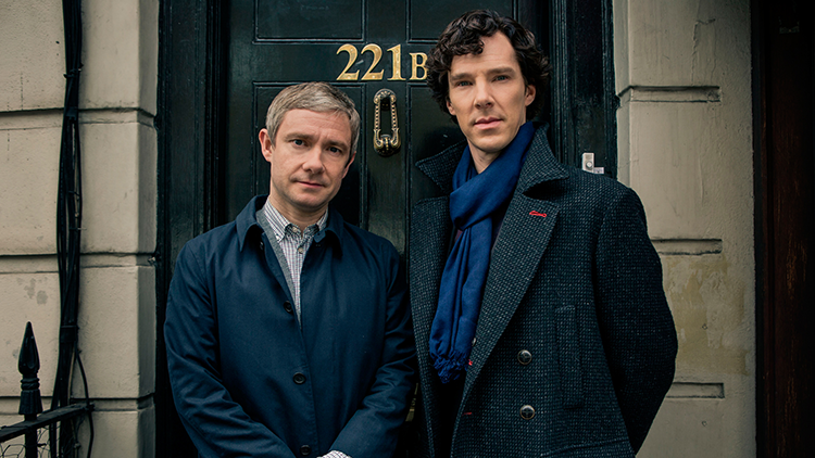 A picture of Sherlock Holmes and Dr. John Watson from the BBC series 'Sherlock'