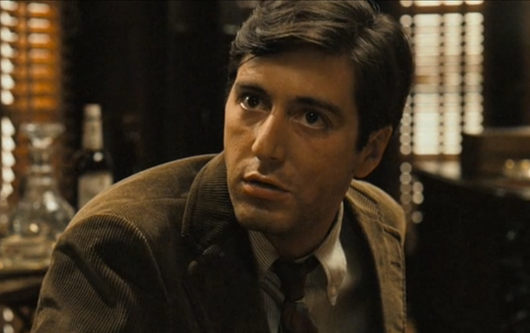 A picture of Michael Corleone from The Godfather