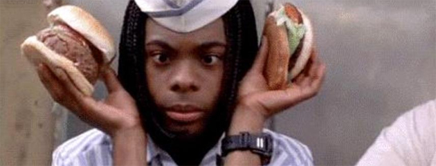 A screen grab of Kel Mitchell from the movie, Good Burger