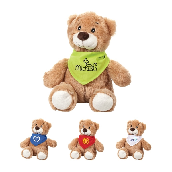 teddy-bear-with-custom-bandanas-around-neck