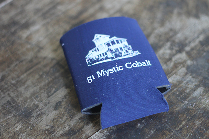 Custom Blue Koozie